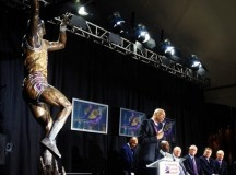 Kareem Abdul-Jabbar and his 16-foot bronze statue – PHOTOS