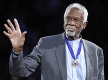 Bill Russell doing fine after collapsing during speaking event