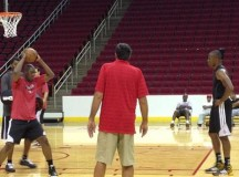 Dwight Howard training with legends Hakeem Olajuwon & Kevin McHale