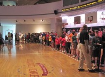 Gary Payton, Larry Johnson visit Naismith Memorial Basketball Hall of Fame – PHOTOS