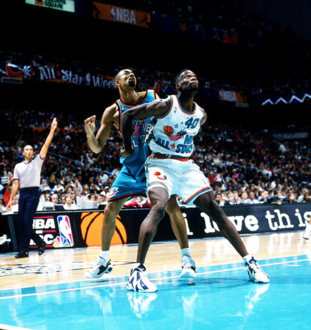 Shawn Kemp in 1996 NBA All-Star game - PHOTOS