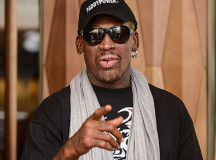 Dennis Rodman silent on North Korea trip, but says Lakers have no chance this season