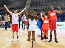 Ex-NBA stars participate in NBA Cares special olympics unified sports basketball game