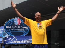 Ex-NBA player Ron Harper holds basketball clinic in Philippines