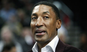 Scottie Pippen during an NBA basketball game