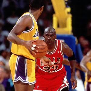 Magic Johnson Michael Jordan 1991 NBA finals
