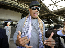 Dennis Rodman busy preparing for basketball game in North Korea
