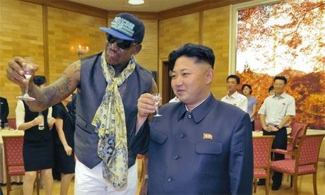 Rodman and Kim, drinking