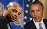 U.S. President Barack Obama one-on-one with Charles Barkley