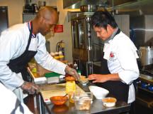Former NBA guard Shandon Anderson now runs a vegetarian restaurant