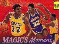 21 vintage NBA basketball artwork cards