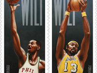 Wilt Chamberlain – first NBA player ever to appear on U.S. postage stamp
