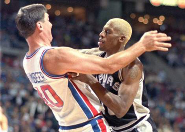 Dennis Rodman With And Against His Ex Teammates