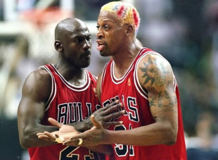 Dennis Rodman with (and against) his former teammates – PHOTOS