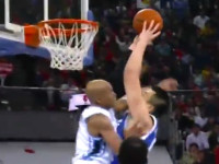 "WATCH: giant ""Chinese Shaq"" throws monster dunk on Stephon Marbury"