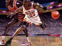 Amazingly cool Michael Jordan artwork