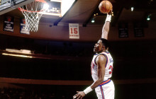 WATCH: Patrick Ewing's powerful dunk… blocked by JR Rider!