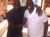 Magic Johnson marks anniversary, celebrates with Jordan – PHOTOS