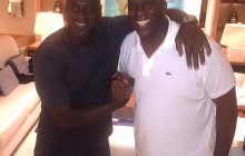 Magic Johnson marks anniversary, celebrates with Jordan – PHOTOS