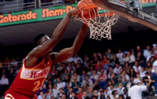 WATCH: Dominique Wilkins jumps over everyone for a monster putback slam