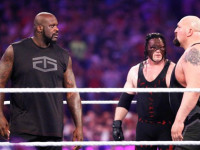 Shaq shakes hands with Big Show, accepts match at Wrestlemania 33