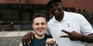 Horace Grant in Russia for NBA's 3x3 streetball tournament - PHOTOS