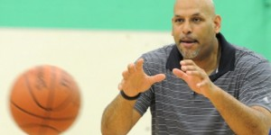 John Amaechi takes part in coaching clinic, praises young players
