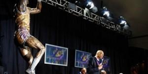 Kareem Abdul-Jabbar and his 16-foot bronze statue - PHOTOS