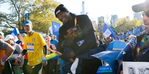 Mutombo wins NY City Marathon, leaves other ex-NBA stars behind - PHOTOS