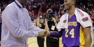Kobe Bryant destroys Rockets, then hugs Hakeem Olajuwon