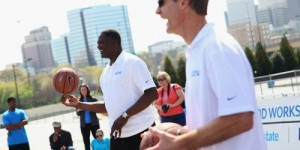 Dominique Wilkins joins Steve Kerr for Allstate, NABC for special Olympics event