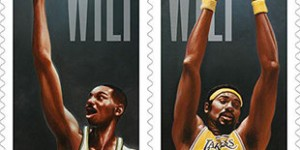 Wilt Chamberlain - first NBA player ever to appear on U.S. postage stamp